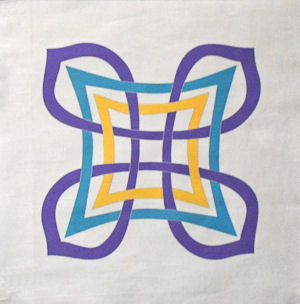 Aine Celtic knot in the colors of Life's Promise.