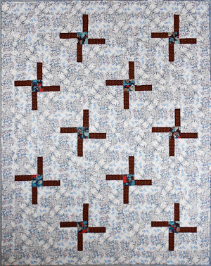 Brigid's Cross pieced quilt pattern