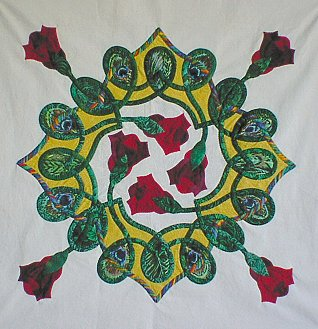 [Celtic Rose with pieced background]