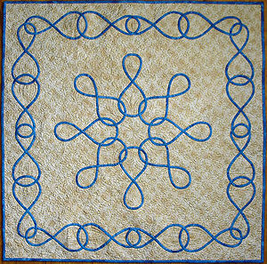 Picture of Infinity, the class project for Basic Celtic for Hand Applique.