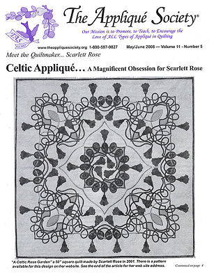 Cover of the Applique Society's May/June newsletter.
