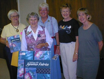 [All of us with Kitty at the Annie Star Quilt Guild meeting]