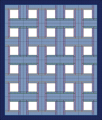 30 block layout of Celtic Plaid Pillows.