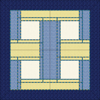 Two color 4 block layout.