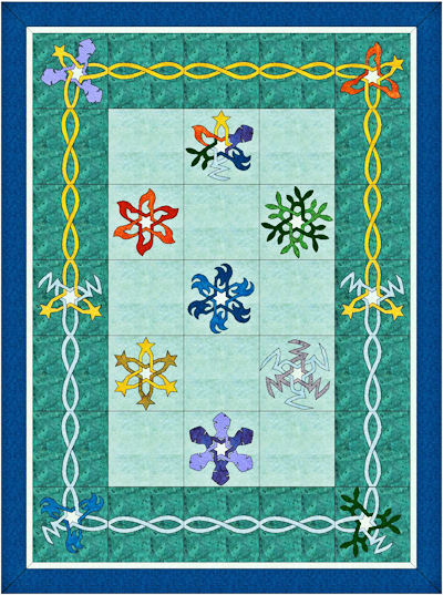 Twin size quilt for Elemental Spirits BOM