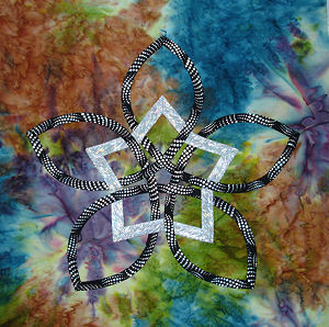 Batik and metallic Celtic Star