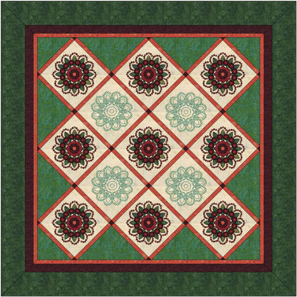 Layout A of my Rose of Sharon blocks.