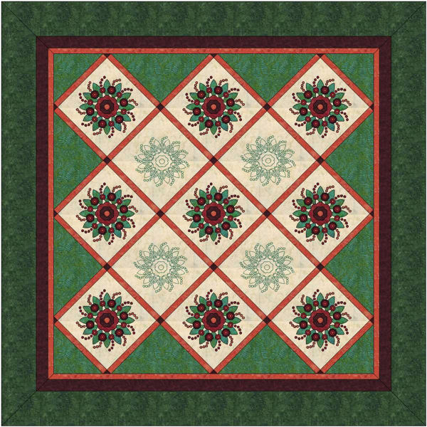 Layout B for my Rose of Sharon blocks.