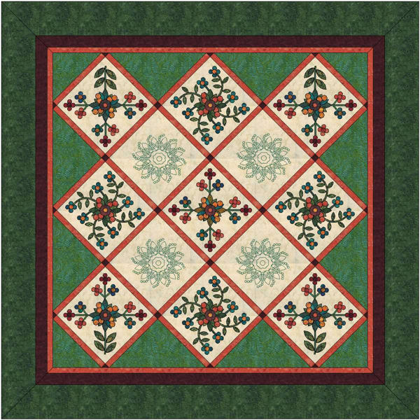 Layout C of Scarlett's Rose of Sharon blocks.