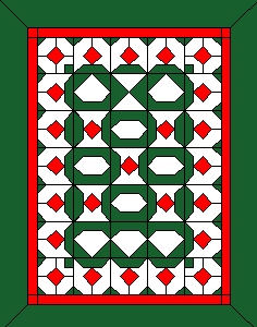 Christmas twin size quilt