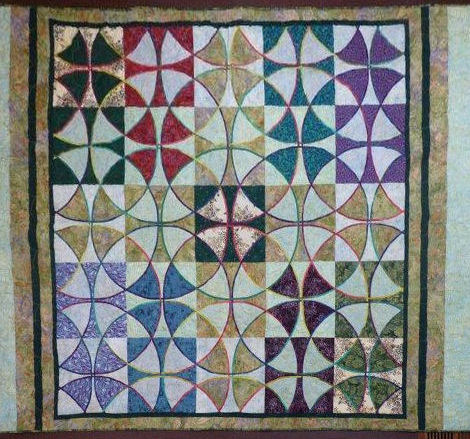Amy's Celtic Wheel of Mystery quilt