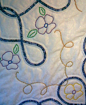 closeup of Deann's quilt