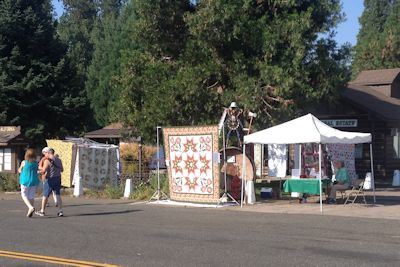 Quilter's Sew-Ciety of Redding with their Opportunity Quilt