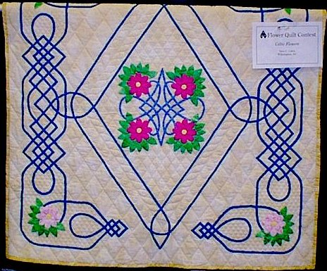 Sara Cates' Celtic Medallion IV quilt.