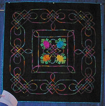 Christine Linder's Celtic Medallion quilt.