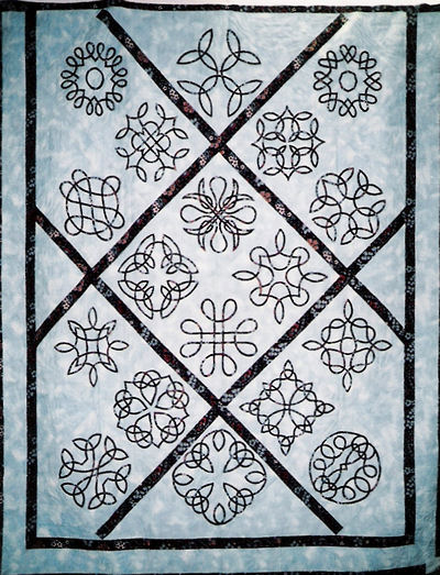 Celtic quilt made by Kaaren Biggs of Canada.