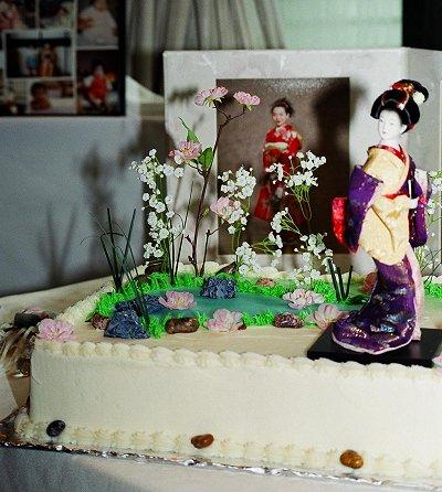Japanese Theme Wedding Cakes