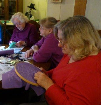 Twilling stitch class at Coram Ranch.