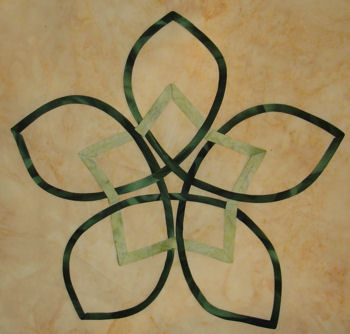 Green Celtic Star block